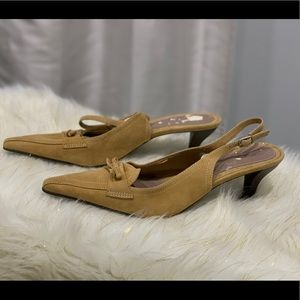 Naturalizer Abigail tan leather slingbacks 8.5